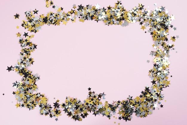 Frame gemaakt van kleine spangles