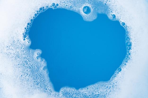 Frame gemaakt van zeepbel met wasmiddel. bovenaanzicht