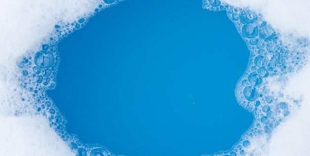Frame gemaakt van zeepbel met wasmiddel