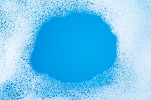 Frame gemaakt van zeepbel wasmiddel. bovenaanzicht