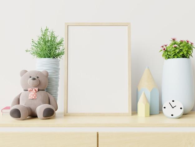 Frame in het interieur van de kinderkamer.
