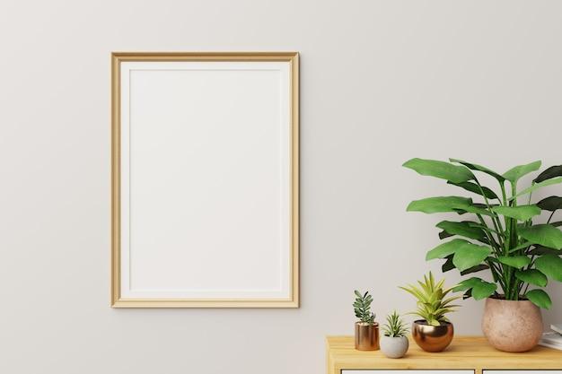 Frame in moderne binnenmuur., close-up, woonkamer