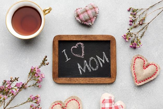 Frame met bericht voor moeder