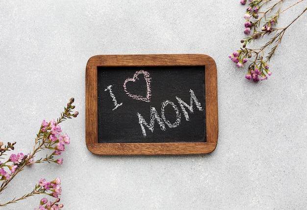 Frame met bericht voor moederdag