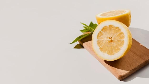 Frame met hoge hoek citroenen