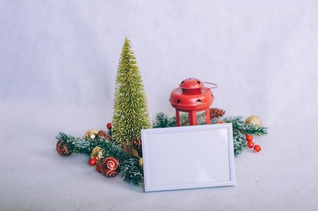 Frame met kerstversiering