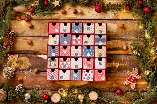 Frame met thematische weergave voor kerstmis