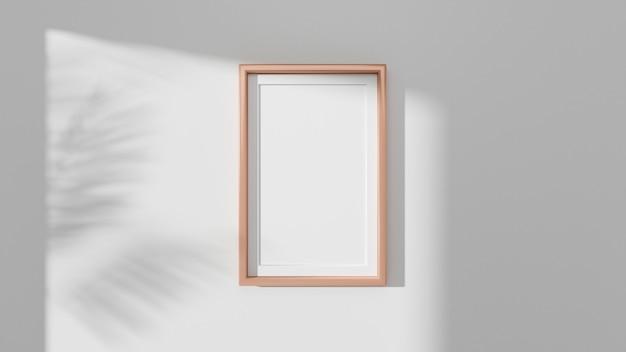 Frame mockup aan de muur