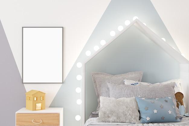 Frame mockup kamer voor een jongen