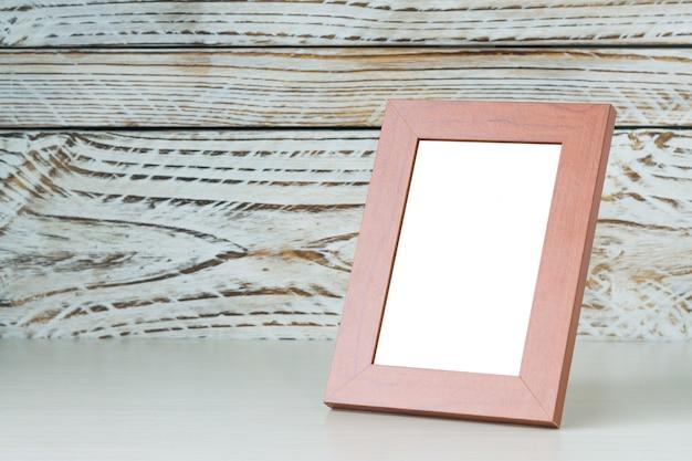 Frame op houten tafel