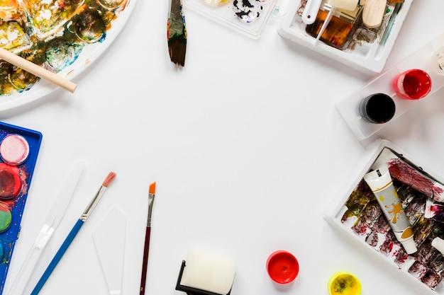 Frame van artistieke tools