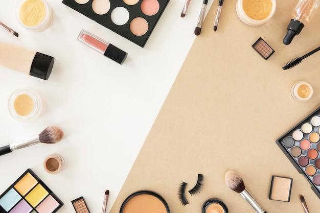Frame van cosmetische producten