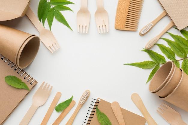Frame van ecologische producten