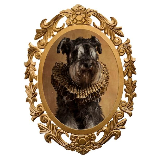 Frame van een hond in de stijl van de renaissance