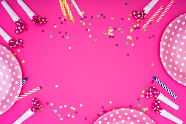 Frame van feestelijke feestartikelen