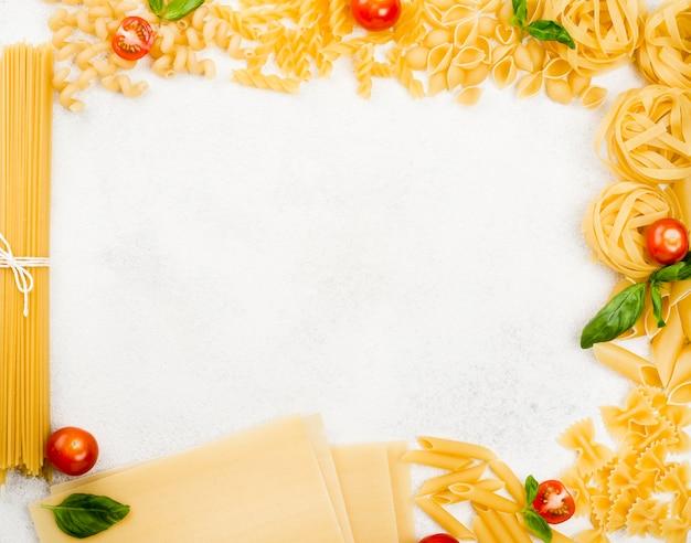 Frame van italiaanse pasta