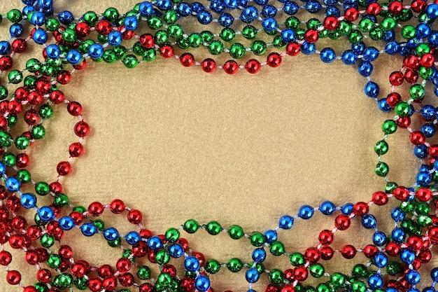 Frame van kleurrijke ketting voor achtergrond
