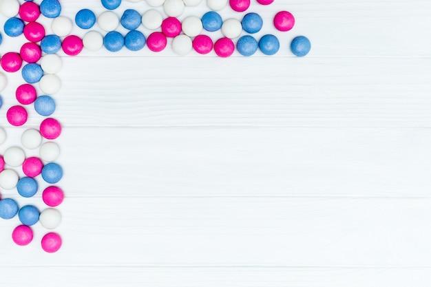 Frame van kleurrijke mint snoepjes