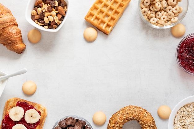 Frame van ontbijt delicatesse