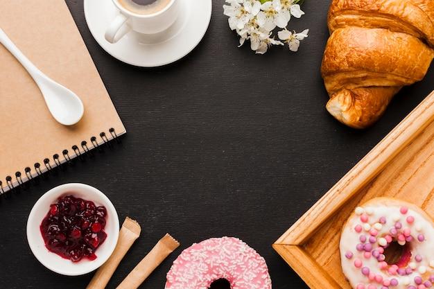 Frame van ontbijt eten