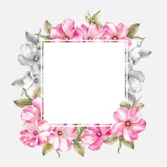 Frame van roze sakurabloemen.