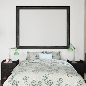 Framemodel in slaapkamer