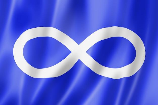 Franco metis etnische vlag, amerika