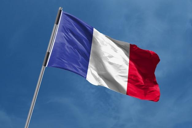 Frankrijk vlag zwaaien
