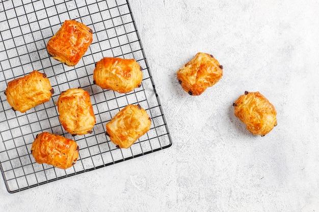 Franse croissants pain au chocolate. Gratis Foto
