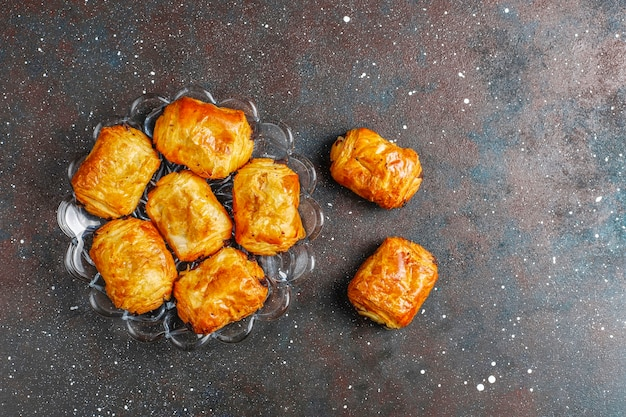Franse croissants pain au chocolate.