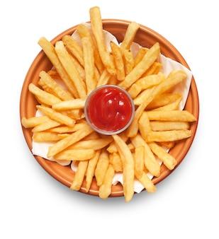 Franse frietjes geïsoleerd op wit
