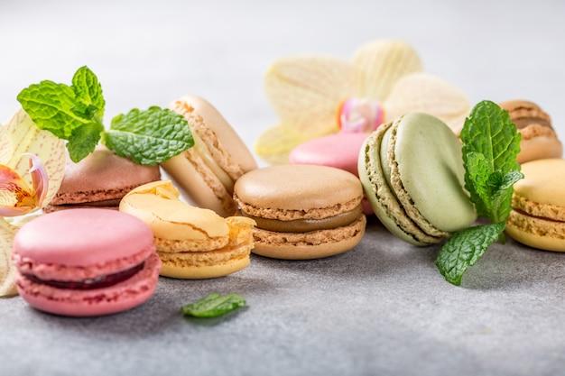 Franse geassorteerde macarons