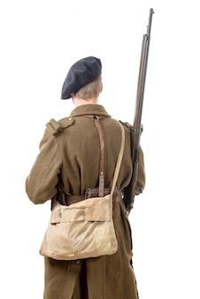 Franse soldaat, achteraanzicht