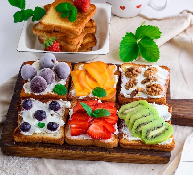 Franse toast met zachte kaas