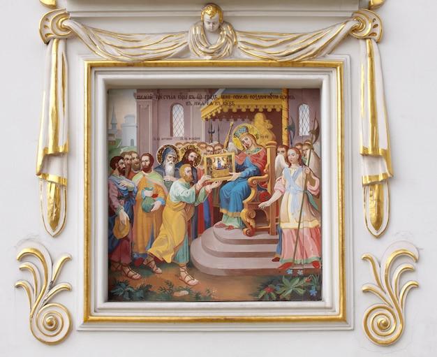 Fresco van het klooster van pechersk lavra, kiev