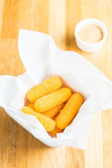 Fried cheese-stok