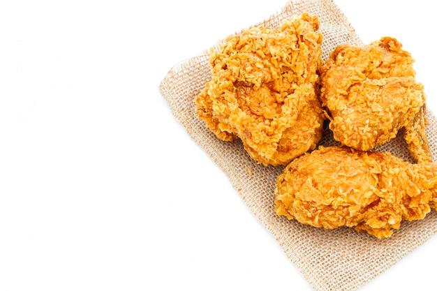 Fried crispy chicken op wit