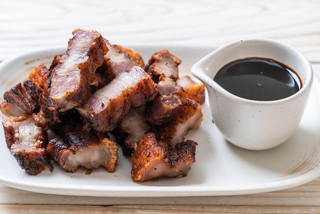 Fried streaky pork of crispy pork of deep fried pork belly