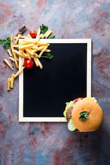 Fris en sappig hamburger