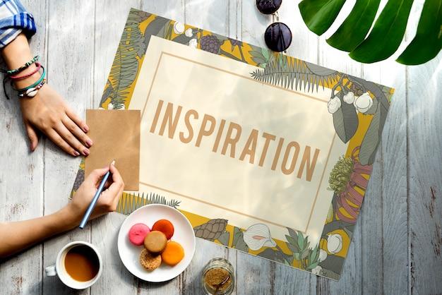 Fris ideeënontwerp wees creatief inspiratieconcept
