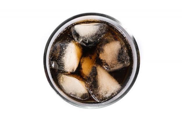 Frisdrankkola glas voor geïsoleerde de zomer ,.