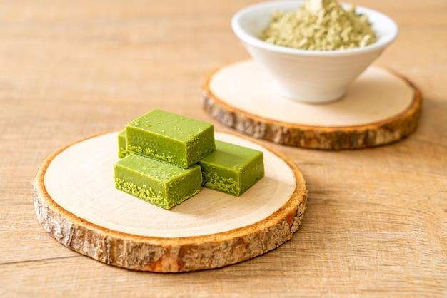 Frisse en zachte matcha groene thee chocolade