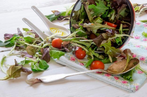 Frisse salade met greens