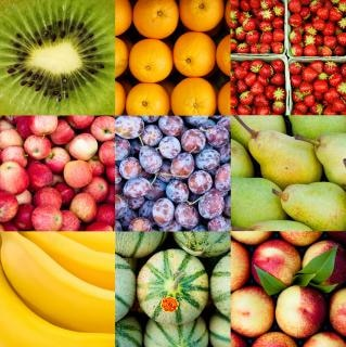 Fruit collage