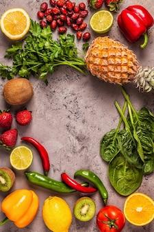Fruit en groenten rijk aan vitamine c