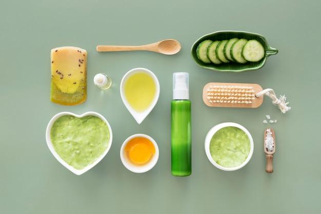 Fruit en groenten spa-behandeling concept