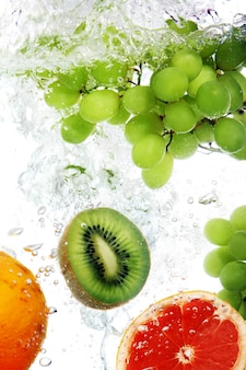 Fruit viel in water