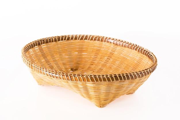 Fruitbakje gemaakt van bamboe.