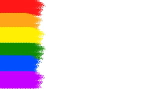 Full colour lgbtq-trotssymbolen, 3d-afbeeldingsweergave