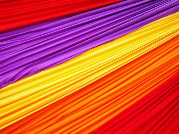Full frame kleurrijke golvende zachte stof